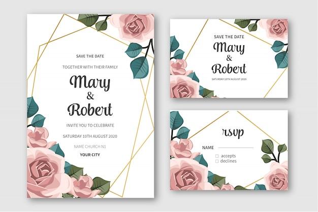 Cute pack wedding stationery
