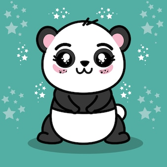 Cute panda animal cartoon
