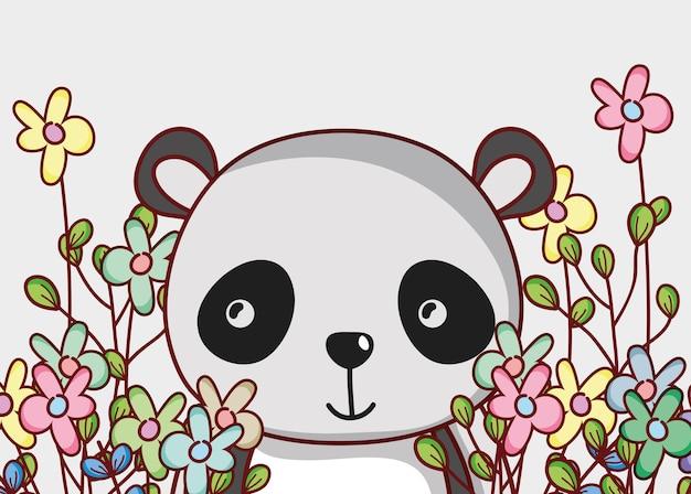 Симпатичные панды медведь каракули
