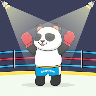 Милый панда боксер