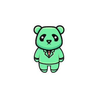 Милая панда бизнесмен иллюстрации шаржа