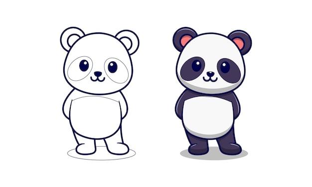 Раскраска милая панда
