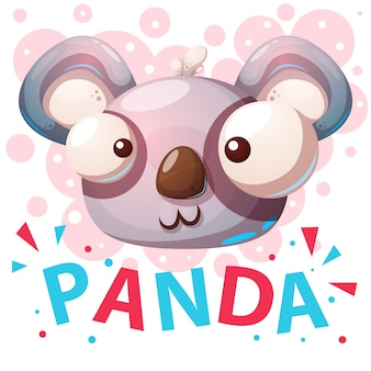 Cute panda characters cartoon illustration.