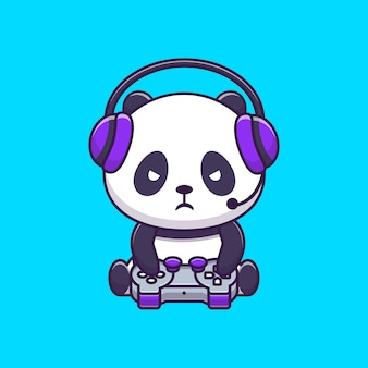 Cute panda gaming