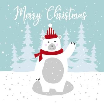 メリークリスマスのためのかわいいパンダの挨拶