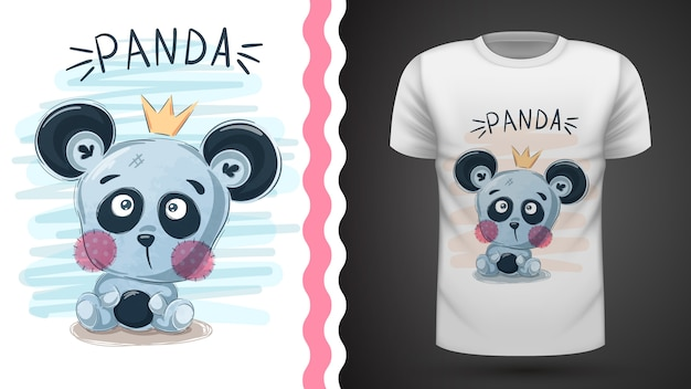 Cute panda - idea for print