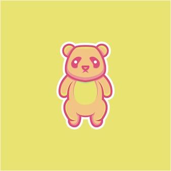 만화 스타일의 귀여운 팬더 그림