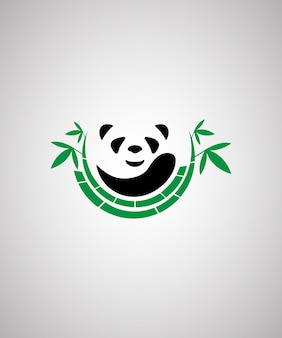 Cute panda ilustration design