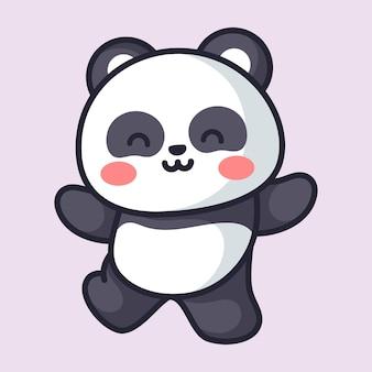 Cute panda is doing adorable pose