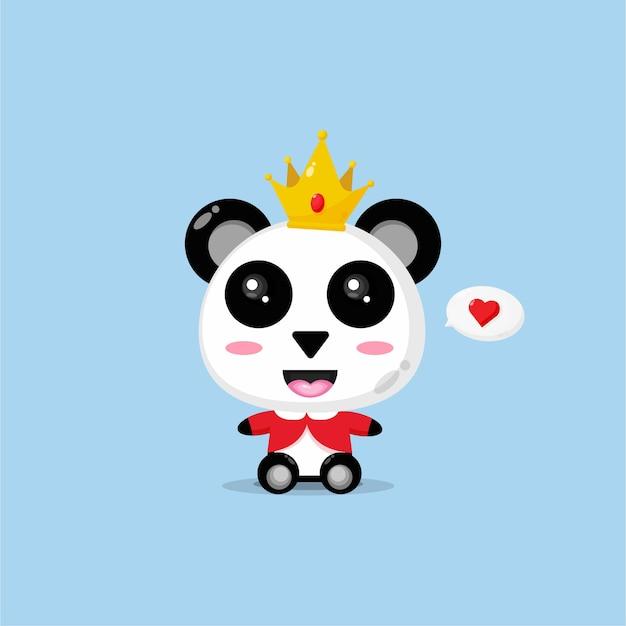 かわいいパンダの王様