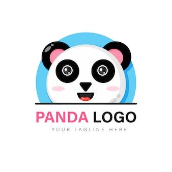 Симпатичный дизайн логотипа панды