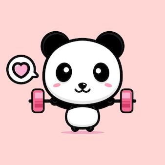 Милый дизайн талисмана панды