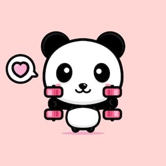 귀여운 팬더 마스코트 디자인