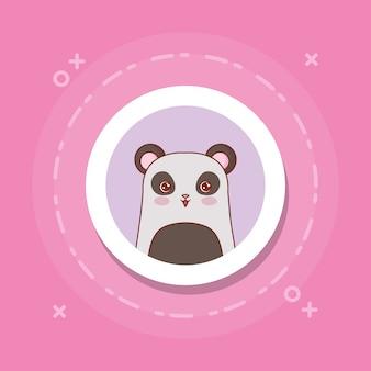 Милая панда на розовом