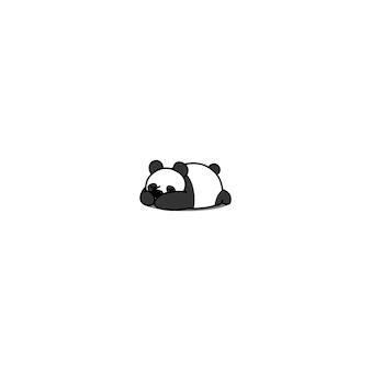 Cute panda sleeping icon