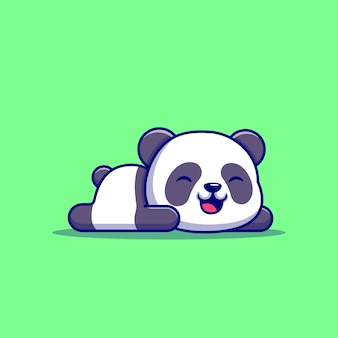 Милая панда спит Бесплатные векторы