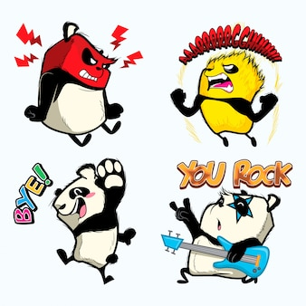 Cute panda sticker, panda patches