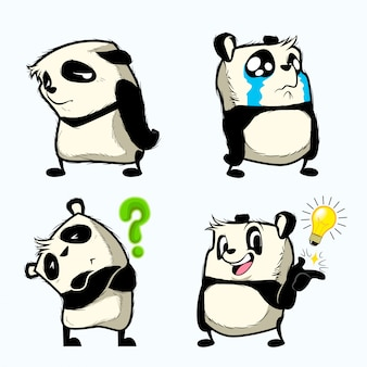 Cute panda sticker, panda patches