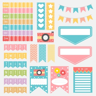 Cute paper notes. memo stickers