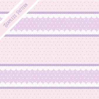 かわいいパステルカラーの背景とレースのシームレスなパターン