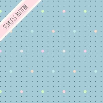 귀여운 파스텔 색상 도트 원활한 패턴 프리미엄
