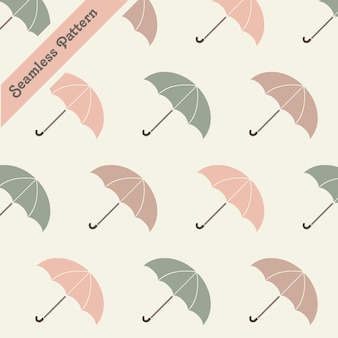 Cute pastel colors umbrellas seamless pattern premium vector