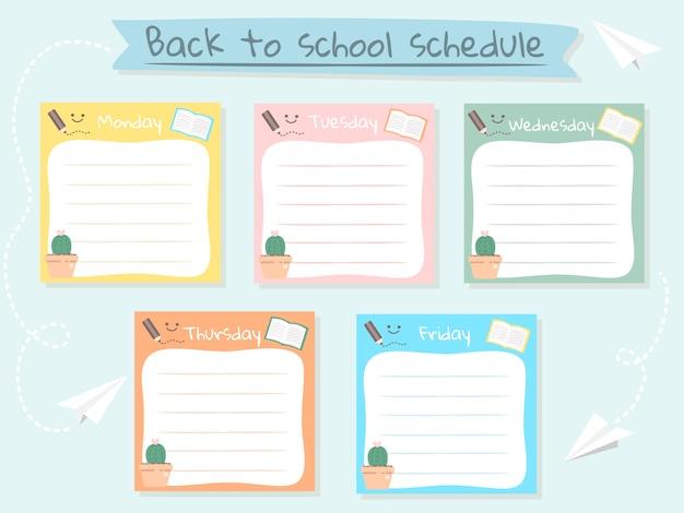 Cute pastel schedule note background