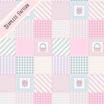 Cute patches seamless pattern