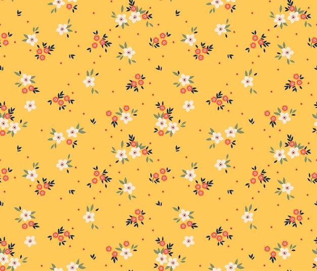 小さな白い花のかわいいパターン。