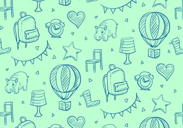 Cute pattern for kids
