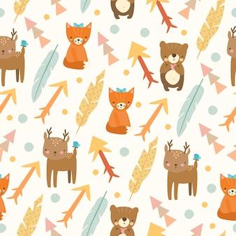 동물의 귀여운 패턴