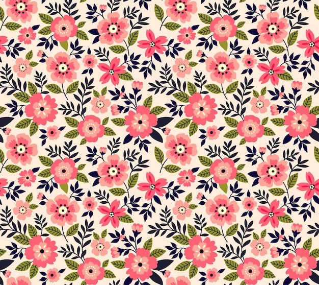 Cute pattern in small pink flowers.