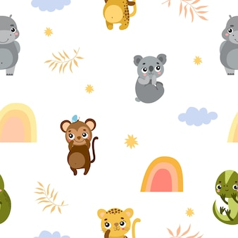 Cute pattern with animals
