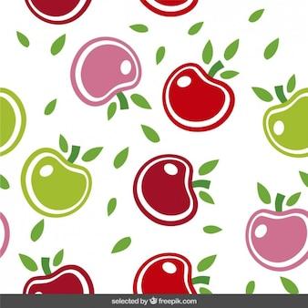 Симпатичные узор с яблоками