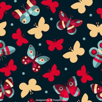 화려한 나비와 귀여운 패턴