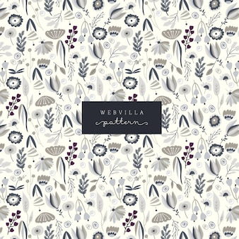 Cute pattern with floral elements