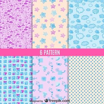 Cute patterns set