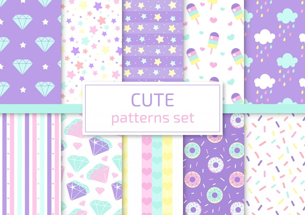 Cute patterns set