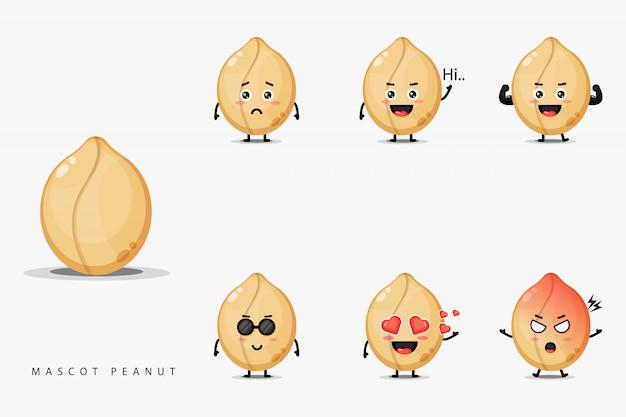 Симпатичный арахисовый талисман