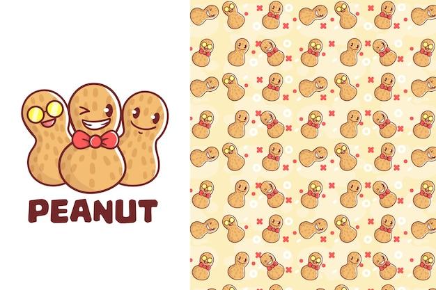 Симпатичный арахисовый бесшовный фон