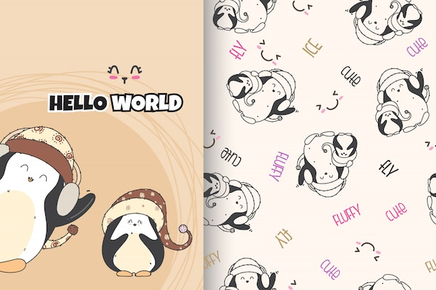 Cute penguin pattern