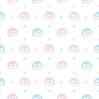 Симпатичный пингвин бесшовный фон