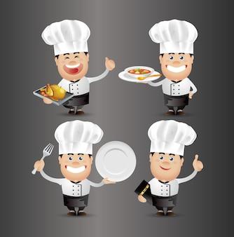 Симпатичные люди-профессионал-повар