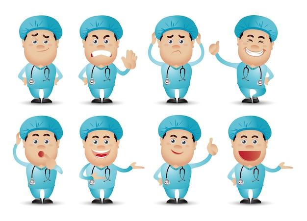 Симпатичные люди-профессионал-врач