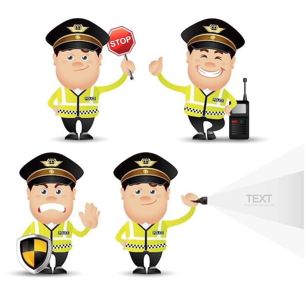 Cute people-professional-policeman