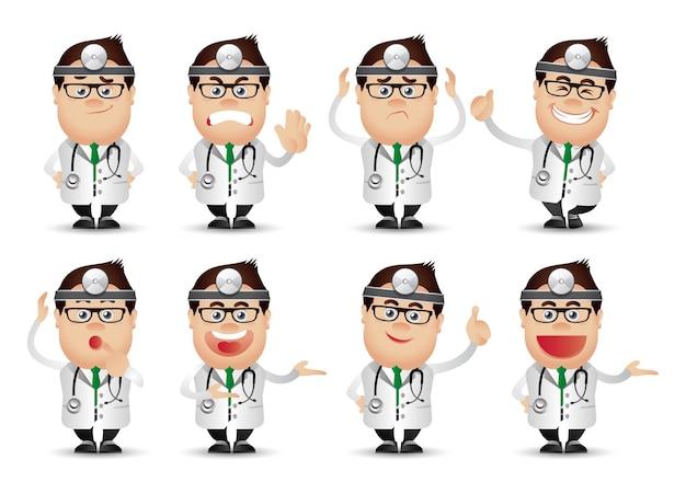 かわいい人-プロのセット。医師