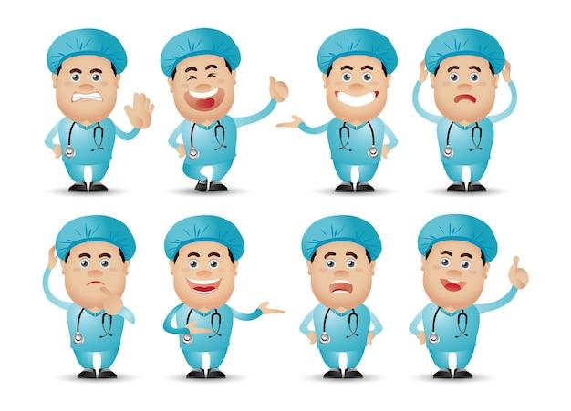 Симпатичные люди-профессиональный набор. доктор