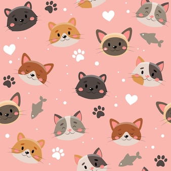 かわいいペットのパターン、別の猫