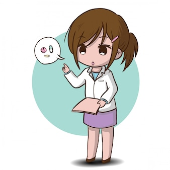 Cute pharmacist cartoon