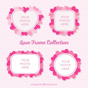 Cute photo frames with hearts
